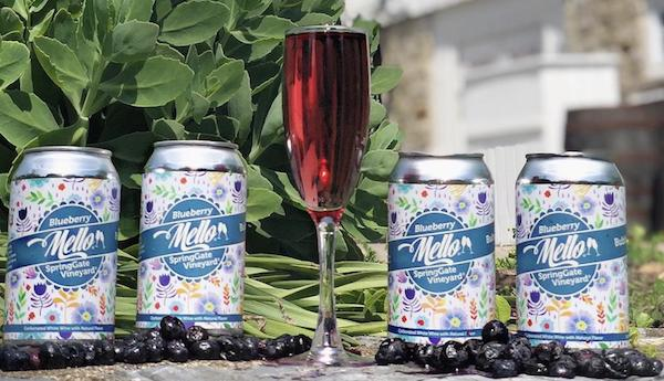 Bubbly Blueberry Mello Cans - 4 Pack