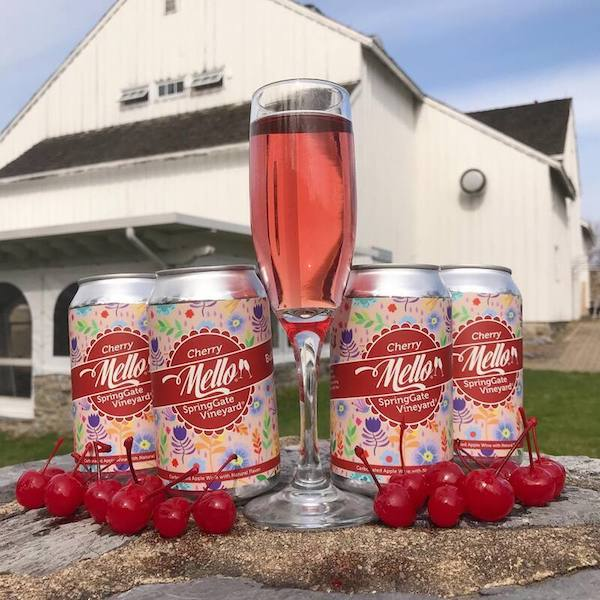 Bubbly Cherry Mello Cans - 4 Pack