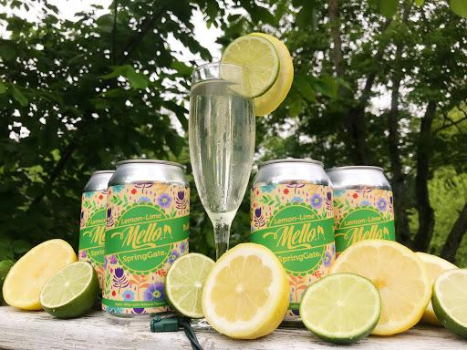 Bubbly Lemon Lime Mello Cans - 4 Pack